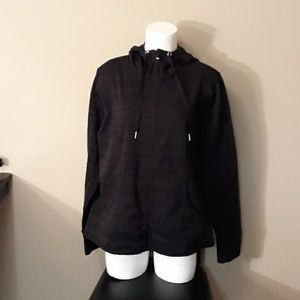 Xersion Black Hoodie Jacket with Thumholes
